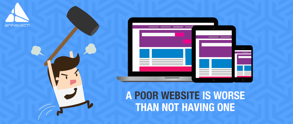avoid creating a poor website, web development, website designing