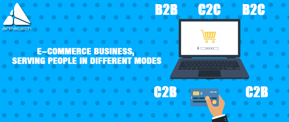 modes of e-commerce businesses, business to business, business to consumer, consumer to business, consumer to consumer, ecommerce